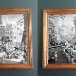 Engravings of Beer Street & Gin Lane by William Hogarth (SEP112)