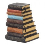 Resin Stack of Old Books (FB03)