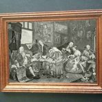Engraving of Marriage A-la-Mode 1, The Marriage Settlement (G152a)