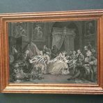 Engraving of Marriage A-la-Mode 4, The Toilette (G155a)