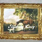 Bay Horse and White Dog after Stubbs 2005 (OP102)
