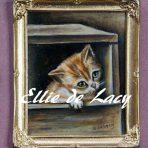 Kitten in a Box from the original by Henrietta Ronner Knip (OP903)