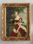 Portrait of Aglaé-Constance Boudard in red velvet dress (R105)