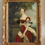 Portrait of Aglaé-Constance Boudard in red velvet dress (R105)