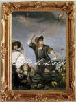 Boys flying Kites (S122)