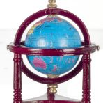 Small Globe in Mahogany Wood Effect Stand (GT02)
