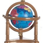 Small Globe in Walnut Wood Effect Stand (GT03)