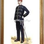 Company Officer of the 2nd Royal Surrey Militia in Undress patrol jacket and forage cap (V122)