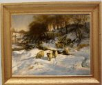 Sheep in the Snow (WS103E)